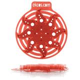 """Коврики-вставки для писсуара, ЭКОС (POWER-SCREEN), на 30 дней каждый, комплект 2 шт., аромат """"Дыня"""", цвет красный, PWR-10R"""