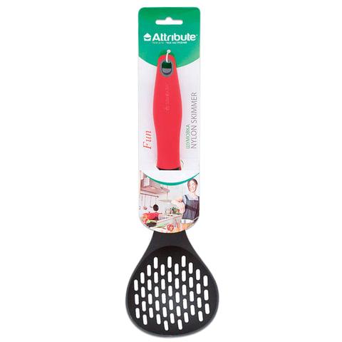 Шумовка для кухни, пищевой термостойкий пластик, цветная рукоятка, подвес,