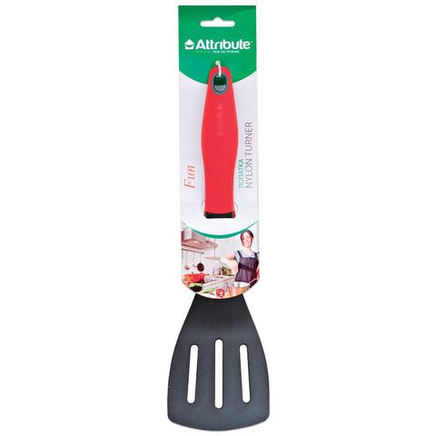 """Лопатка для кухни, пищевой термостойкий пластик, цветная рукоятка, подвес, """"Fun"""", ATTRIBUTE, AGF210"""