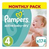 "Подгузники 174 шт., PAMPERS (Памперс) ""Active Baby"", размер 4 (8-14 кг), PA-81603990"