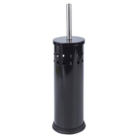 Ерш для унитаза LAIMA, с подставкой, металл, черный, глянцевый, 604960