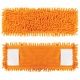 Насадка МОП плоская для швабры/держателя 40 см, карманы (ТИП К), ворсистая микрофибра, ворс 2 см, LAIMA, 605032