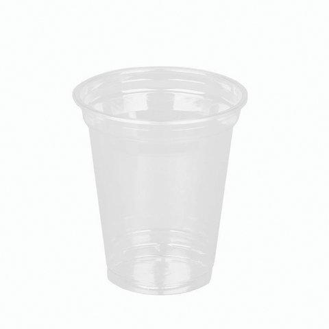 Одноразовые стаканы 300 мл, КОМПЛЕКТ 50 шт, прозрачные,