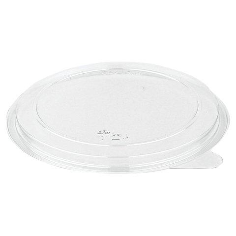 Крышки для одноразовых круглых контейнеров СпК-132, КОМПЛЕКТ 500 шт., ПЭТ, контейнеры 605115