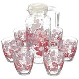 "Набор столовый, 7 предметов, кувшин 1300 мл + 6 стаканов 285 мл, ""Red Dream"", PASABAHCE, 95972BD1"