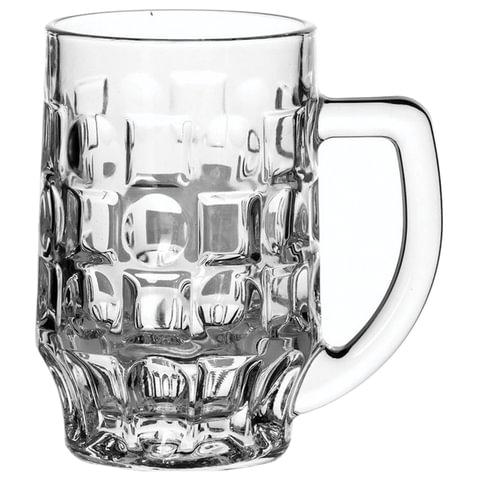 Набор кружек для пива, 2 шт., объем 500 мл, фактурное стекло,