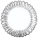 """Набор тарелок, 6 шт., диаметр 205 мм, фигурное стекло, """"Aurora"""", PASABAHCE, 10512"""