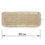 Насадка МОП плоская 80 см для швабры-рамки, карманы, нашивной хлопок, LAIMA EXPERT, 605306