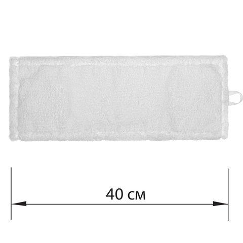 Насадка МОП плоская для швабры/держателя 40 см, уши/карманы (ТИП У/К), микрофибра, ЛАЙМА EXPERT, 605311