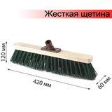 Щетка для уборки техническая, ширина 40 см, жесткая щетина 8 см, дерево, еврорезьба, ЛАЙМА EXPERT, 605373