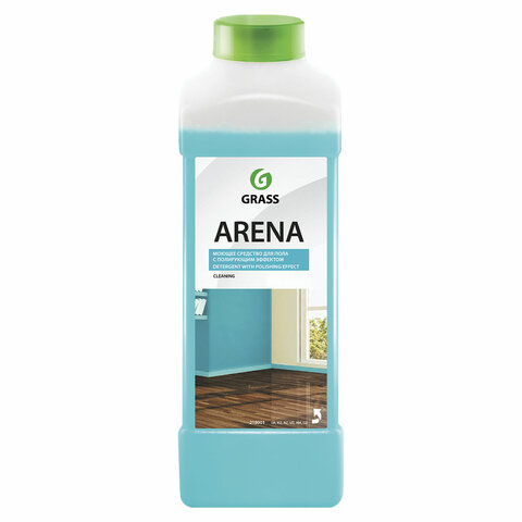 Средство для мытья пола 1 л GRASS ARENA, с полирующим эффектом, нейтральное, концентрат, 218001