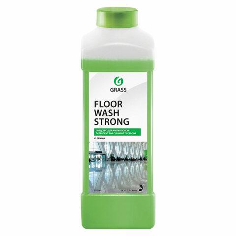 Средство для мытья пола 1 л GRASS FLOOR WASH STRONG, щелочное, низкопенное, концентрат, 250100