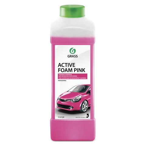 Шампунь автомобильный для автоматической и ручной мойки 1 л GRASS ACTIVE FOAM PINK