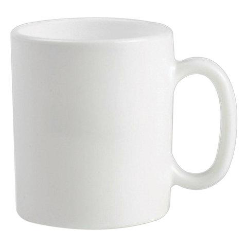 Набор кружек для чая и кофе, 6 штук, объем 320 мл, белое стекло,