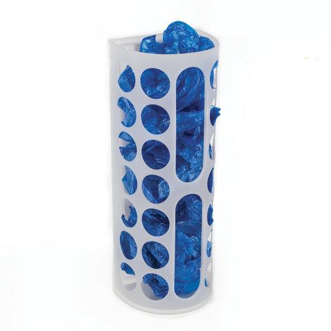 Диспенсер для бахил и пакетов пластиковый, настенный, белый, самоклеящийся, 45х16х13 см, 30367648