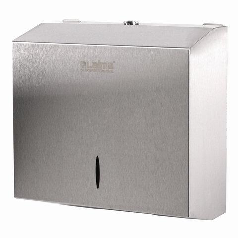 Диспенсер для полотенец LAIMA PROFESSIONAL INOX, (Система H3) V-сложения, нержавеющая сталь, матовый, 605696