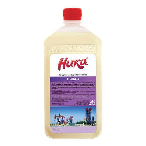 Средство для удаления нефтемаслянных и трудноудаляемых загрязнений 1 кг НИКА-4, жидкое