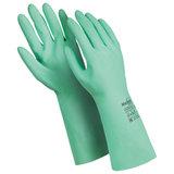"""Перчатки латексные MANIPULA """"Контакт"""", хлопчатобумажное напыление, размер 9-9,5 (L), зеленые, L-F-02"""