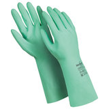 """Перчатки латексные MANIPULA """"Контакт"""", хлопчатобумажное напыление, размер 10-10,5 (XL), зеленые, L-F-02"""