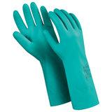 """Перчатки нитриловые MANIPULA """"Дизель"""", хлопчатобумажное напыление, размер 7 (S), зеленые, N-F-06"""