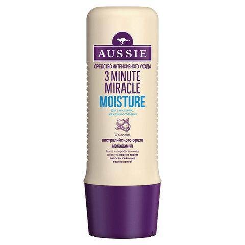 "Маска для волос 250 мл AUSSIE (Оззи) ""3 Minute Miracle Moisture"", для интенсивного ухода, 1079044"