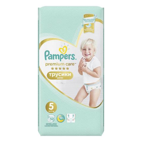 Подгузники-трусики 52 шт. PAMPERS (Памперс) Premium Care Pants, размер 5 (12-17 кг), 1210809