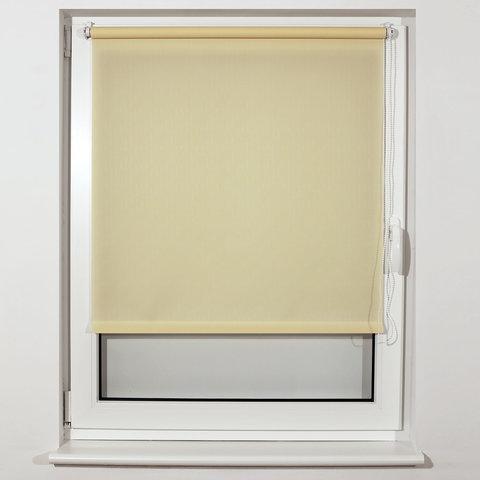 Штора рулонная BRABIX 40х175 см, текстура - лён, защита 55-85%, 200 г/м2, кремовый S-21, 605968