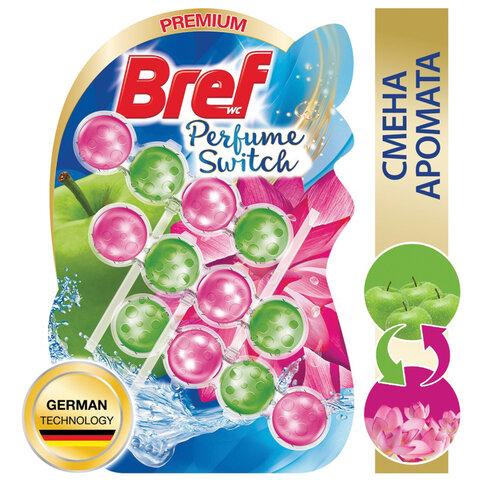 Блок туалетный подвесной твердый 3 шт. х 50 г BREF (Бреф) Perfume Switch,