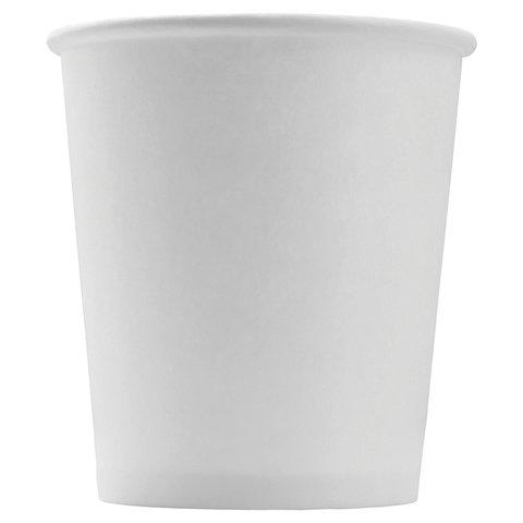 Одноразовые стаканы 100 мл, КОМПЛЕКТ 60 шт., бумажные однослойные, белые, холодное/горячее, ФОРМАЦИЯ, HB62-120-0000