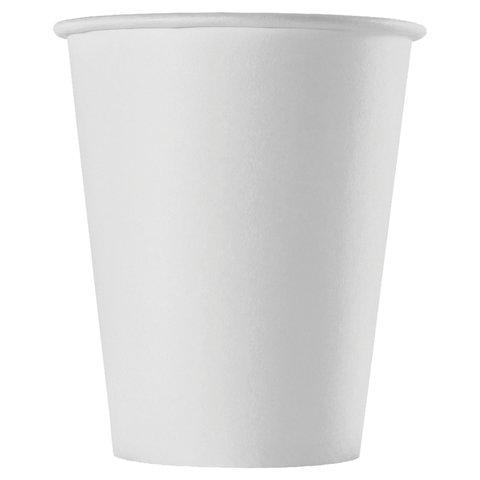 Одноразовые стаканы 150 мл, КОМПЛЕКТ 100 шт., бумажные однослойные, белые, холодное/горячее, для вендинга, ФОРМАЦИЯ, HB70-180-0000
