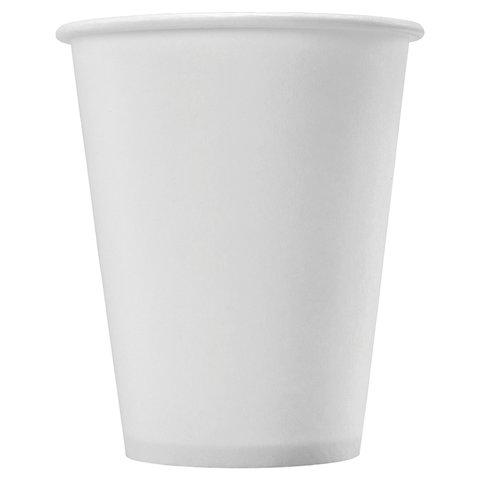 Одноразовые стаканы 180 мл, КОМПЛЕКТ 80 шт., бумажные однослойные, белые, холодное/горячее, ФОРМАЦИЯ, HB72-205-0000