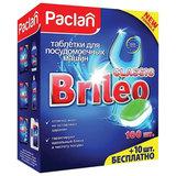 """Таблетки для мытья посуды в посудомоечных машинах 110 шт., PACLAN Brileo """"Classic"""", 419260"""