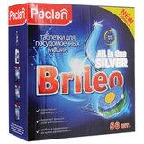 "Таблетки для мытья посуды в посудомоечных машинах 56 шт., PACLAN Brileo ""All in one Silver"", 419170"