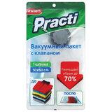"""Пакет вакуумный с клапаном 50х60 см, для хранения вещей, PACLAN, """"Practi"""", 412157"""