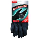 """Перчатки хозяйственные неопреновые, хлопчатобумажное напыление, размер M (средний), черные, PACLAN """"Extra Protection"""", 407740"""