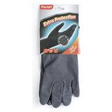 """Перчатки хозяйственные неопреновые, хлопчатобумажное напыление, размер L (большой), черные, PACLAN """"Extra Protection"""", 407750"""