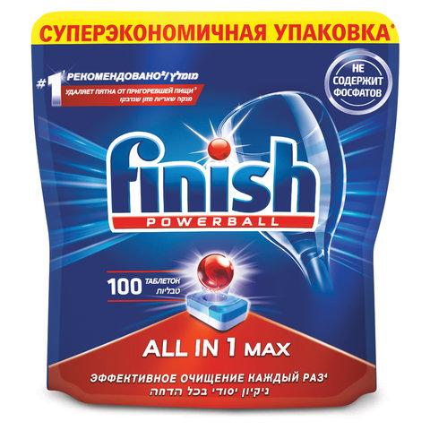 Таблетки для мытья посуды в посудомоечных машинах 100 шт., FINISH