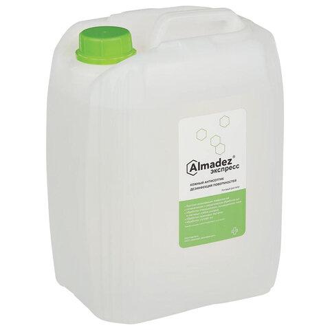 Антисептик для рук и поверхностей спиртосодержащий (63%) 5л АЛМАДЕЗ-ЭКСПРЕСС, дезинфицирующий, жидкость, АЭ-506