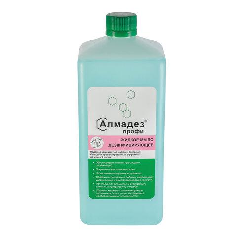Мыло жидкое дезинфицирующее 1 л АЛМАДЕЗ-ПРОФИ, с пролонгированным эффектом, крышка, МАП-83