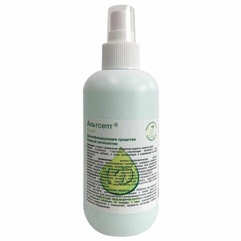Антисептик кожный дезинфицирующий спиртосодержащий (70%) с распылителем 200 мл АЛЬТСЕПТ, готовый раствор