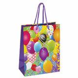 """Пакет подарочный 17,8x9,8x22,9 см, ЗОЛОТАЯ СКАЗКА """"Воздушные шары"""", ламинированный, 606590"""