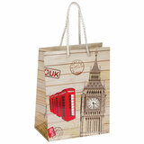 """Пакет подарочный 17,8x9,8x22,9 см, ЗОЛОТАЯ СКАЗКА """"Лондон"""", ламинированный, 606598"""