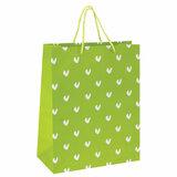 """Пакет подарочный 26x12,7x32,4 см, ЗОЛОТАЯ СКАЗКА """"Зеленый в галочку"""", ламинированный, 606603"""
