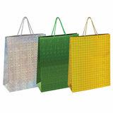 Пакет подарочный 33x12,7x44,7 см, ЗОЛОТАЯ СКАЗКА голография, ассорти 3 цвета, 606610