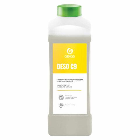 Антисептик для рук и поверхностей спиртосодержащий (70%) 1л GRASS DESO C9, дезинфицирующий, жидкость, 550024