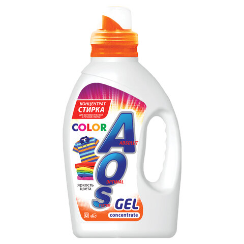 Средство для стирки жидкое автомат 1,3 л AOS Color, гель-концентрат, 634-3