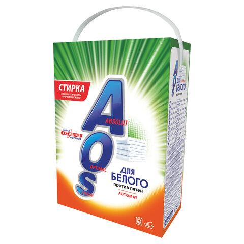 Стиральный порошок автомат 4 кг AOS, для белого белья, 519-4