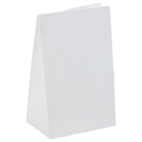Крафт пакет бумажный БЕЛЫЙ 18х12х29 см, плотность 65 г/м2, 606863