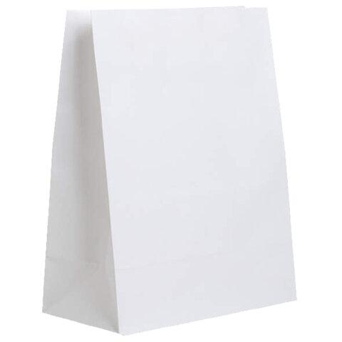 Крафт пакет бумажный БЕЛЫЙ 22х12х29 см, плотность 65 г/м2, 606866