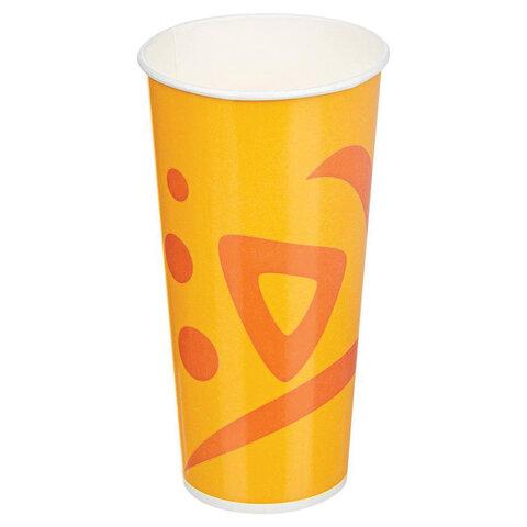 Одноразовые стаканы 500 мл, КОМПЛЕКТ 50 шт., бумажные однослойные, Whizz, для холодных напитков, HUHTAMAKI,-0351, 77102200-0351